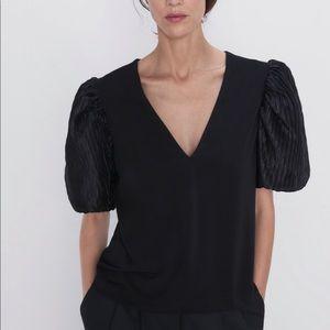Zara bubble sleeve top